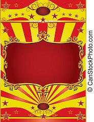 affiche, cadre, cirque
