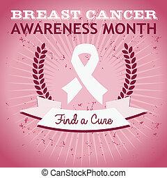 affiche, cancer, conscience sein