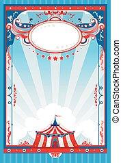 affiche, cirque