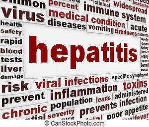 affiche, concept médical, hépatite
