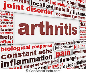 affiche, concept, maladie, arthrite