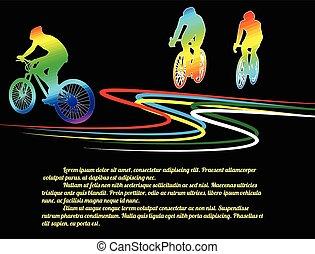 affiche, cyclisme, fond