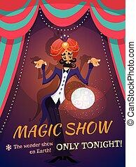affiche, exposition magique