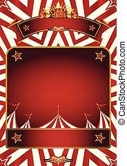affiche, gentil, cirque