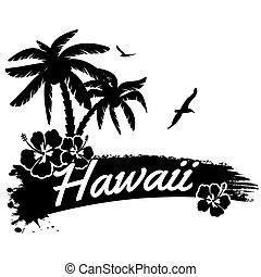 affiche, hawaï