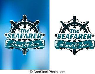 affiche, nautique, seafarer, themed