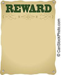 affiche, récompense