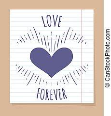 affiche, toujours, amour, linéaire, page