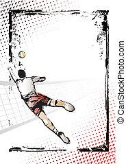 affiche, volley-ball