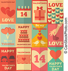 affiches, valentines, collection