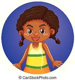 africaine, rond, fond
