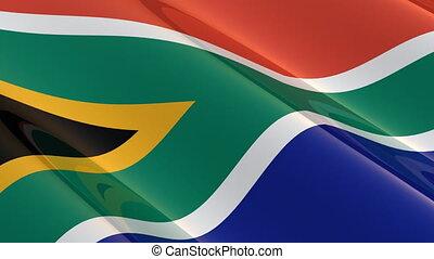 afrique, seamless, sud, drapeau