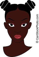 afro, girl