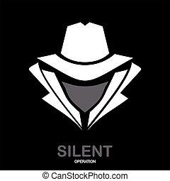 agent., agent, service, espion, icon., hacker., undercover., top secret, incognito.