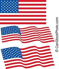 agité, proportions., original, ensemble, usa, fédéral, s'accorder, cadre, tailles, drapeau, vecteur, mâts, etats, 10834, standard., uni, drapeaux, amérique, ordre, officiel