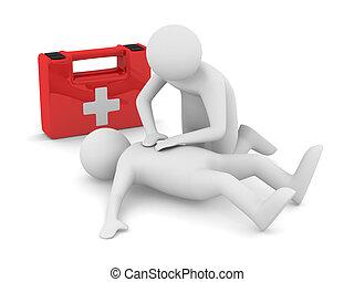 aid., image, breath., isolé, artificiel, 3d, premier