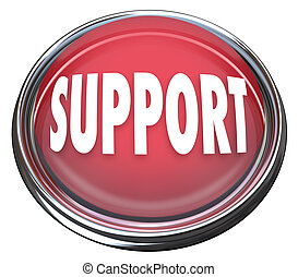 aide, obtenir, bouton, soutien, réponses, questions, rond, rouges