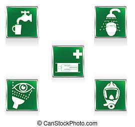 aide, premier, signes