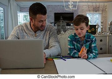 aider, sien, études, père, fils