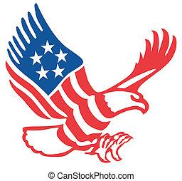 aigle, américain