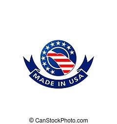 aigle, fait, usa, drapeau américain, vecteur, icône