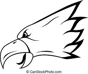 aigle, tête, symbole