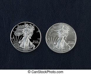 aigle, uncirculated, pièces, dollar, américain, argent, preuve