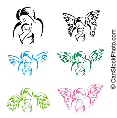 aile, ange, mère