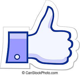 aimer, facebook, bouton, il