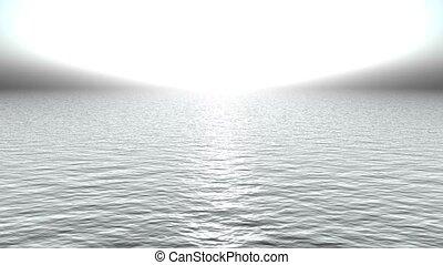 aimer, heaven., lumière, océan, refléter, blanc