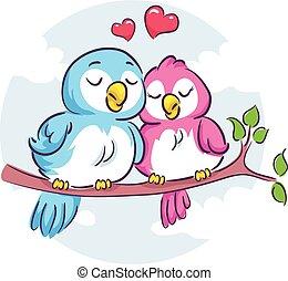 aimer oiseaux, branche