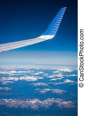 aircraft., vue, pointe, shevelev., aile