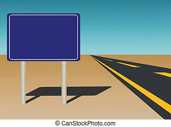 ajouter, signe, texte, bleu, route, could, ciel, illustration, fond, vecteur, vide, vous