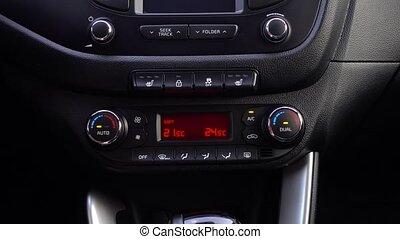 ajuste, homme, température, voiture.