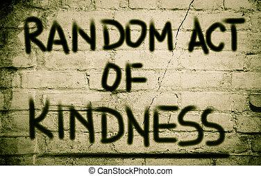 aléatoire, gentillesse, concept, acte