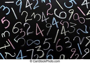 aléatoire, nombres, fond