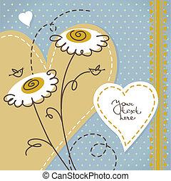album, fond, floral