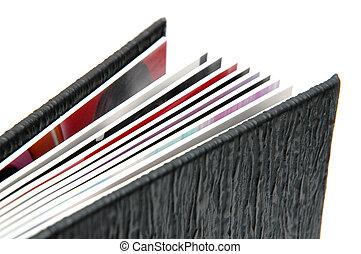 album, photo, 3, 2, noir