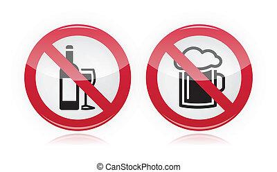 alcool, non, -, signe, problème, boire
