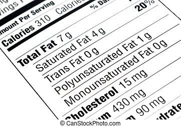 alimentaire, étiquette
