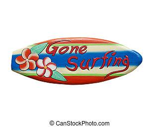 allé, surfer, signe