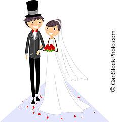 allée, mariage
