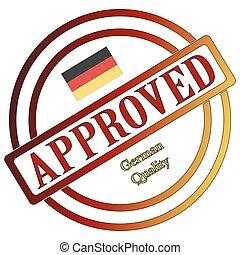 allemand, timbre, qualité, approuvé