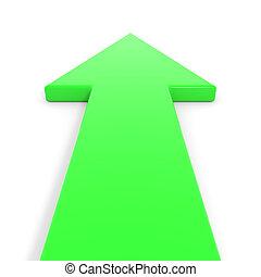 aller, forward., vert, flèche