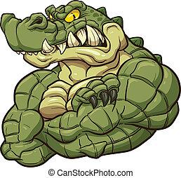 alligator, mascotte