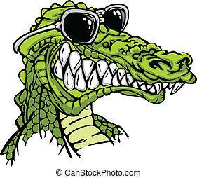 alligator, porter, gator, ou, sunglass
