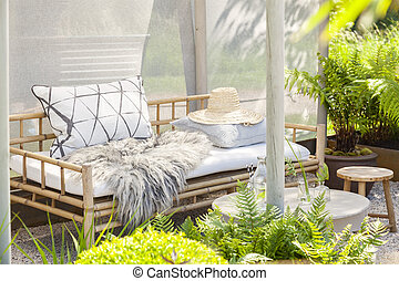 allocation places, confortable, jardin
