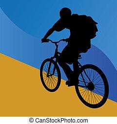 allonge bicyclette, étudiant