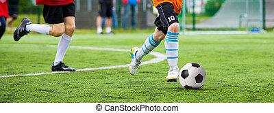allumette, football, children., tournoi, formation, football