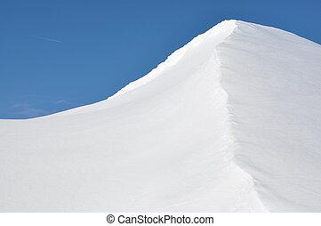 alpes suisses, congères